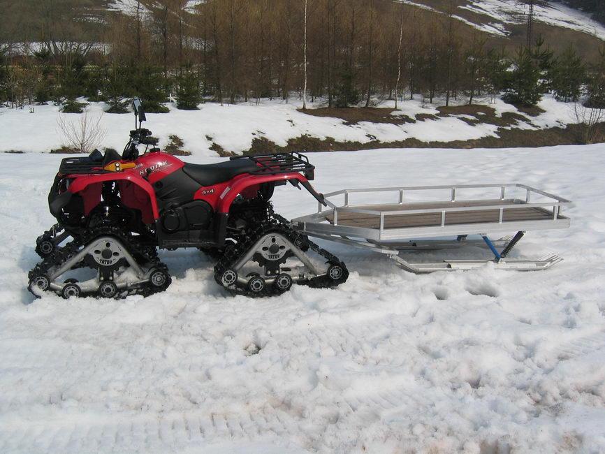 Prodej hliníkové saně za sněžné skútry
