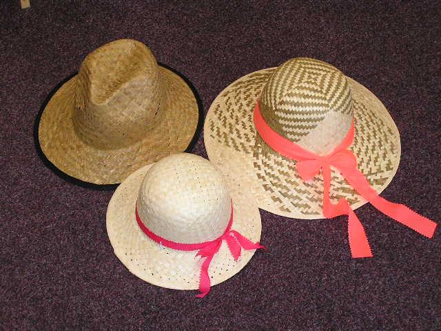 Letní slaměné klobouky