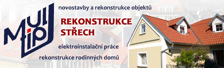 Rekonstrukce střech Praha