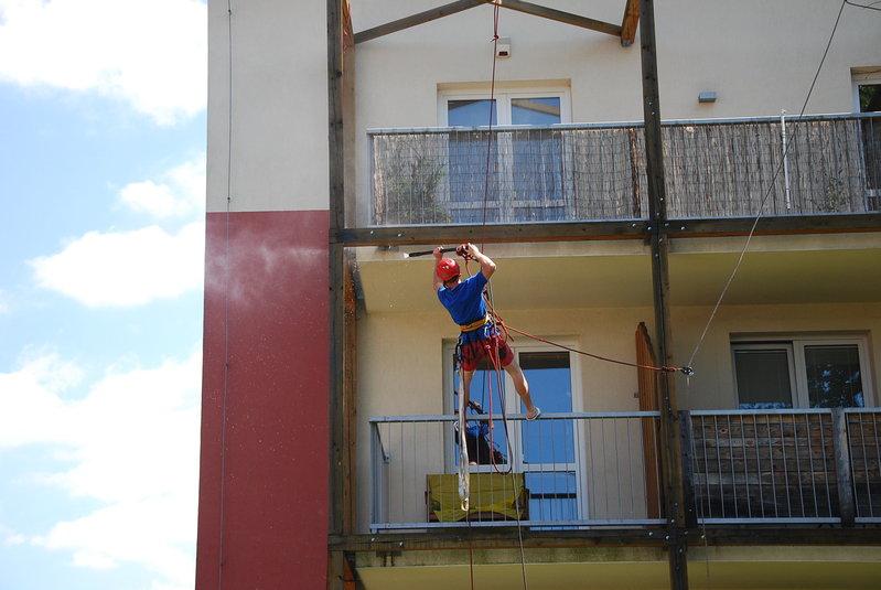 Výškové práce mytí opravy nátěry fasád Liberec