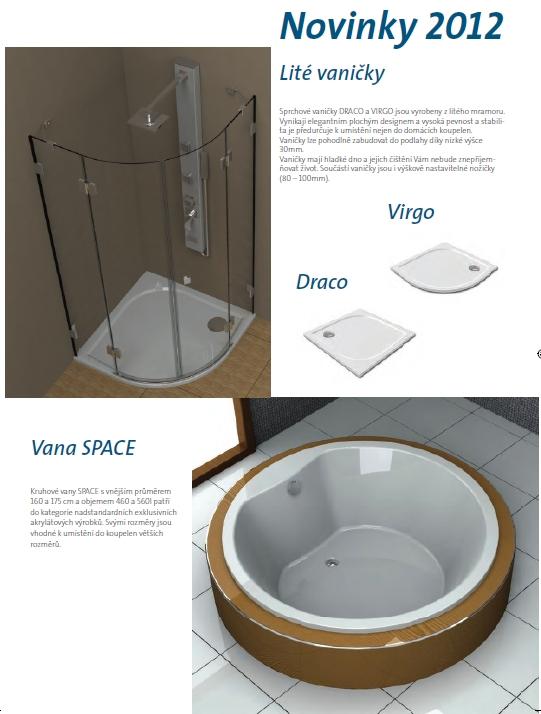 Výroba, prodej elegantní, funkční, kruhové vany Teiko novinky 2012  Zlín