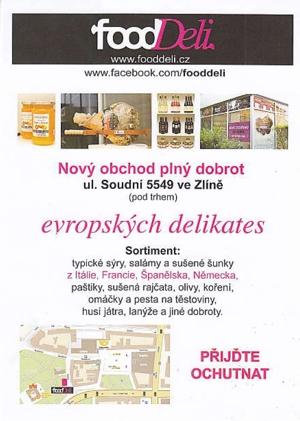 Evropské delikatesy, sušené šunky, typické sýry Zlín