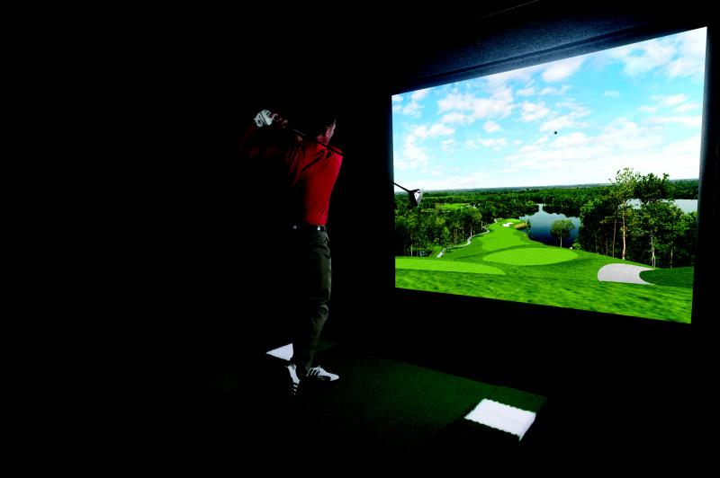 Golfový simulátor Liberec Indoor golf Jablonec golfové hřiště golfový trenažér Liberec Jablonec Turnov.