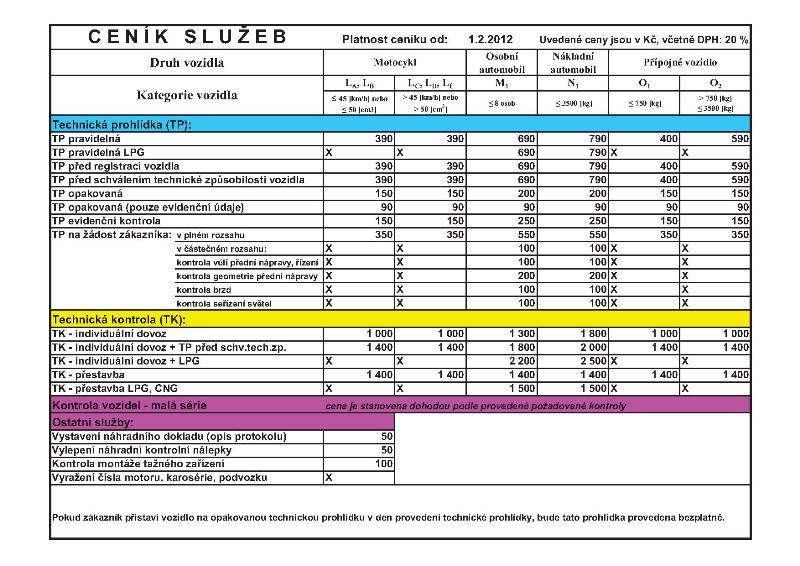 Evidenční kontroly prohlídky vozidel automobilů měření emisí Jablonec Liberec.