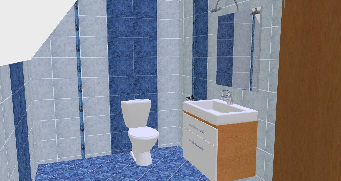 3D návrhy koupelen a interiérů na PC.
