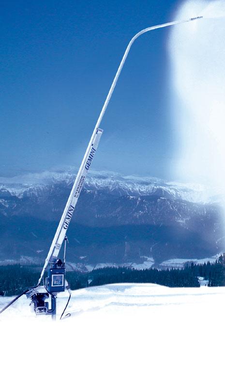 Zasněžovací systémy, technické zasněžování lyžařských svahů, sjezdovek Uherské Hradiště