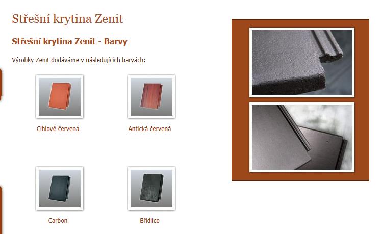 Betonová taška, Novinka - Zenit grafit, Mediterran CZ s.r.o.