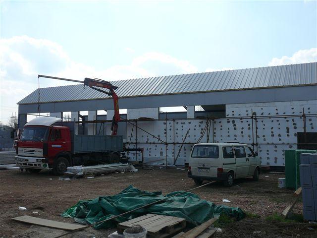 Výroba montáž - haly , hangáry, sklady  , garáže , chladíci boxy
