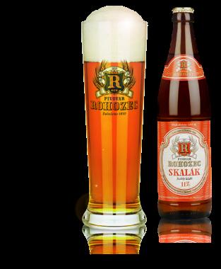 Pivní speciály pivo Skalák malina Rohozec ovocné pivo.