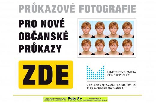 Průkazové foto pro nové občanské průkazy Prostějov