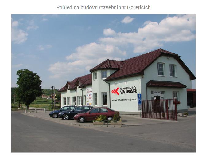 Stavebniny Hustopeče, Bořetice, Podivín, akce, STAVEBNINY VAJBAR s.r.o.