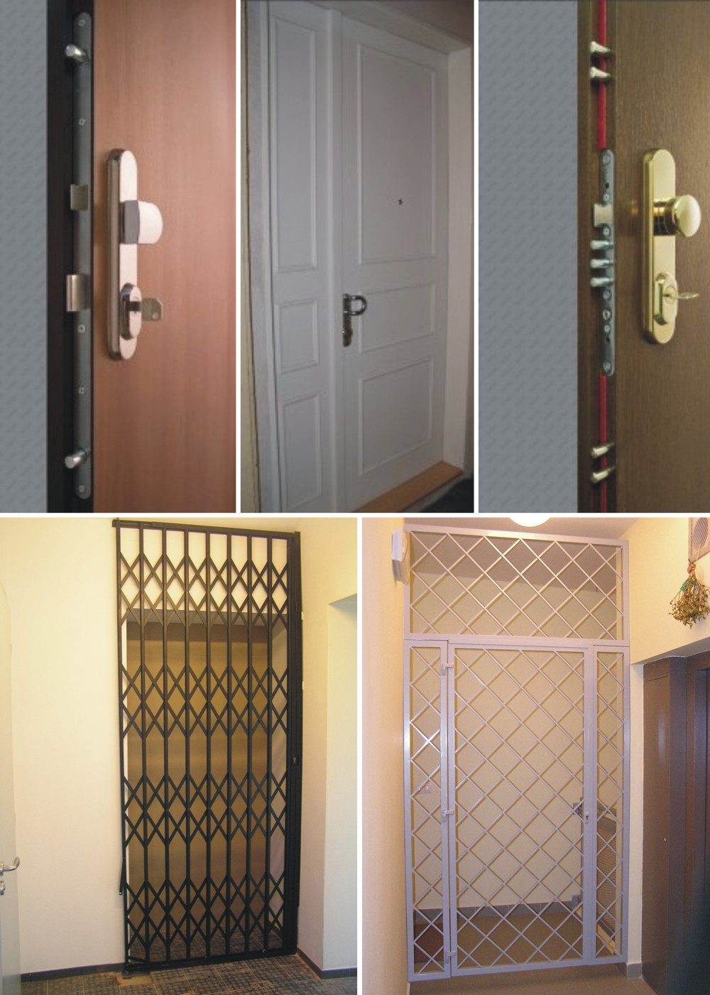 Bezpečnostní dveře, zámky, mříže
