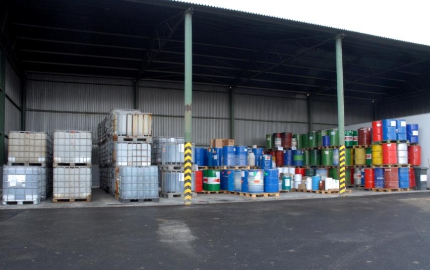 Odvoz průmyslových odpadů.