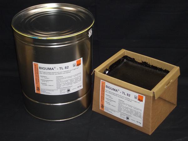 Asfaltové zálivkové hmoty za horka aplikovaná plasticko - elastická asfaltová zálivková hmota