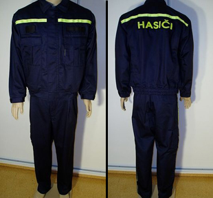 Production of fireman uniforms, working clothes, garments for rescuers, the Czech Republic