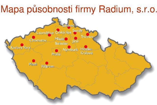 Měření radonu v domech na pozemcích radonový index radonový průzkum Liberec Jablonec.