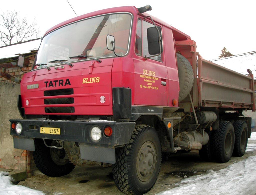 Přeprava, sklápěčem Tatra 815 nad 3,5 tuny Zlín