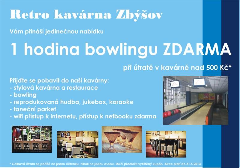 Bowling zdarma k útratě v kavárně Zbýšov, Oslavany, Rosice, Zastávka, Ivančice
