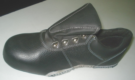 INDIA; Leather shoes, finished leather