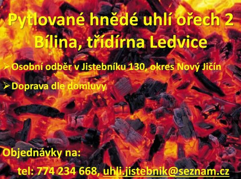 Pytlované hnědé uhlí ořech pro Moravskoslezský kraj