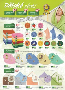 Froté ručníky, dětské osušky, koupelnové předložky Šumperk