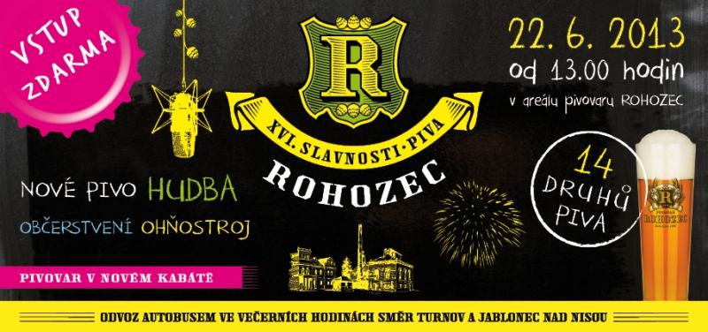 Slavnosti piva Rohozec pivní slavnosti pivovaru Rohozec.