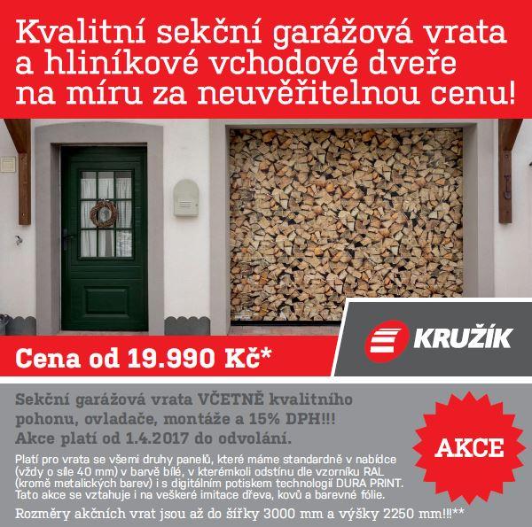 Kvalitní sekční garážová vrata na míru Vsetín, Valašské Meziříčí v akci, levně
