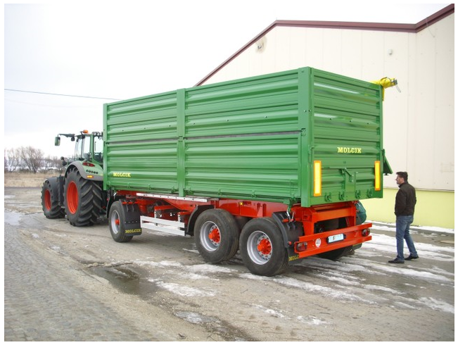 Traktorové návěsy, traktorové přívěsy, vlečky za traktor, MOLČÍK kipper, a.s.