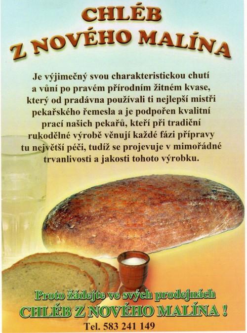 škvarkový chléb Nový Malín