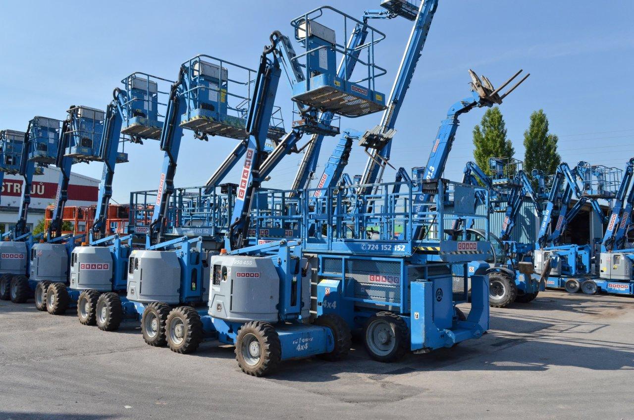 Půjčovna stavebních strojů, pracovních plošin, nářadí, stavebních buněk, vysokozdvižných vozíků, stavebních výtahů
