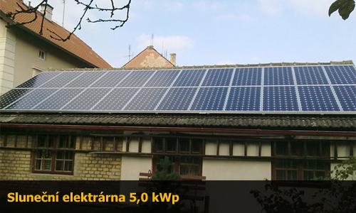 Fotovoltaická elektrárna 5,0 kWp na klíč
