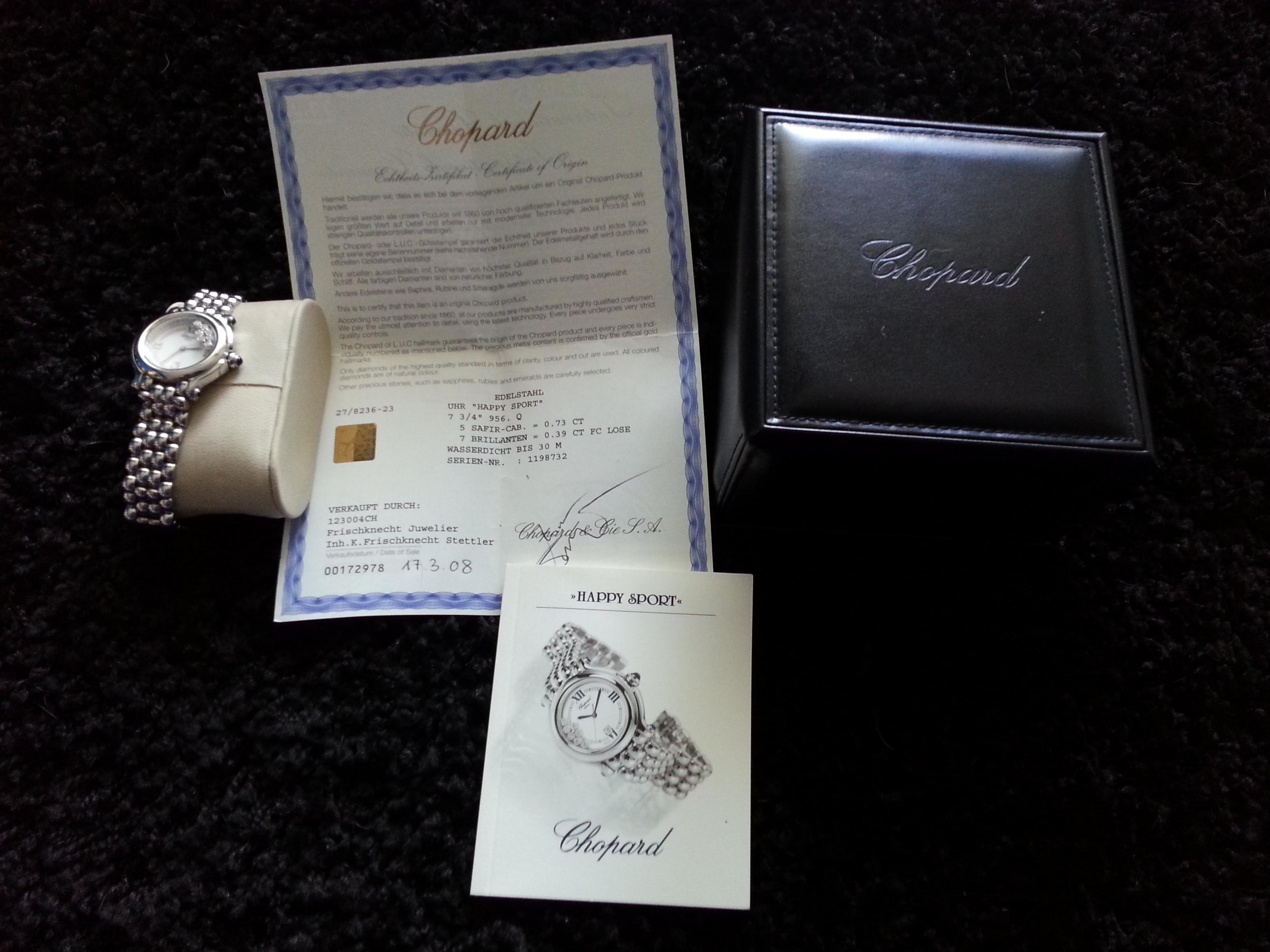 Dámské luxusní hodinky CHOPARD HAPPY SPORT
