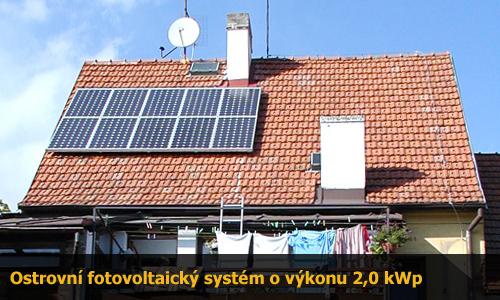 Ostrovní off-grid systém 2,0 kWp na klíč