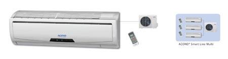 Podstropní, nástěnné klimatizace Acond, LG, Sinclair, Toshiba