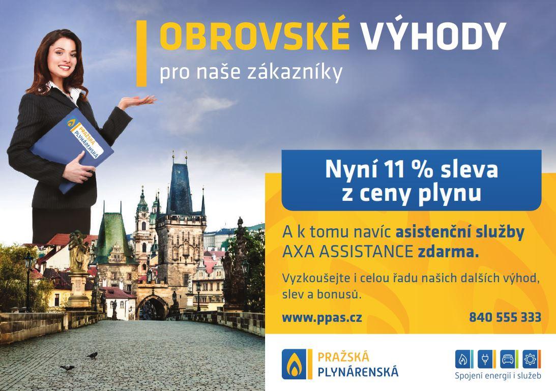 Levnější plyn o 11 % od Pražské plynárenské a.s.