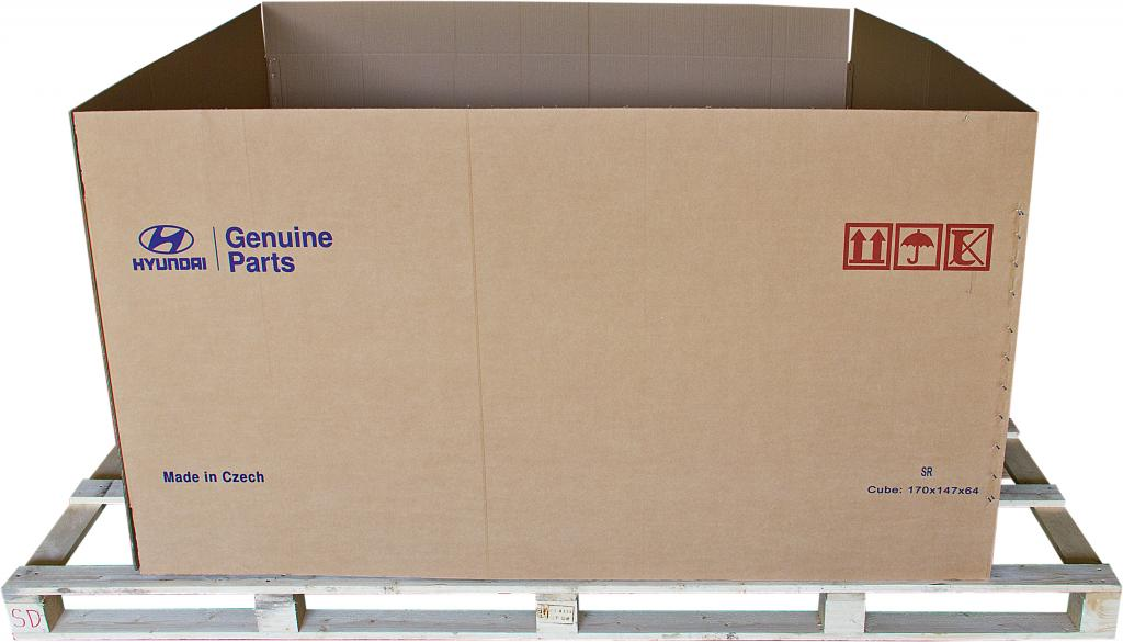 Velkoobjemové přepravní boxy, euroboxy, lepenkové bedny