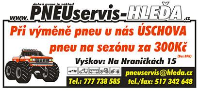 Prodej, servis, likvidace pneumatik, úschova pneumatik na sezónu Kroměříž, Vyškov, Prostějov