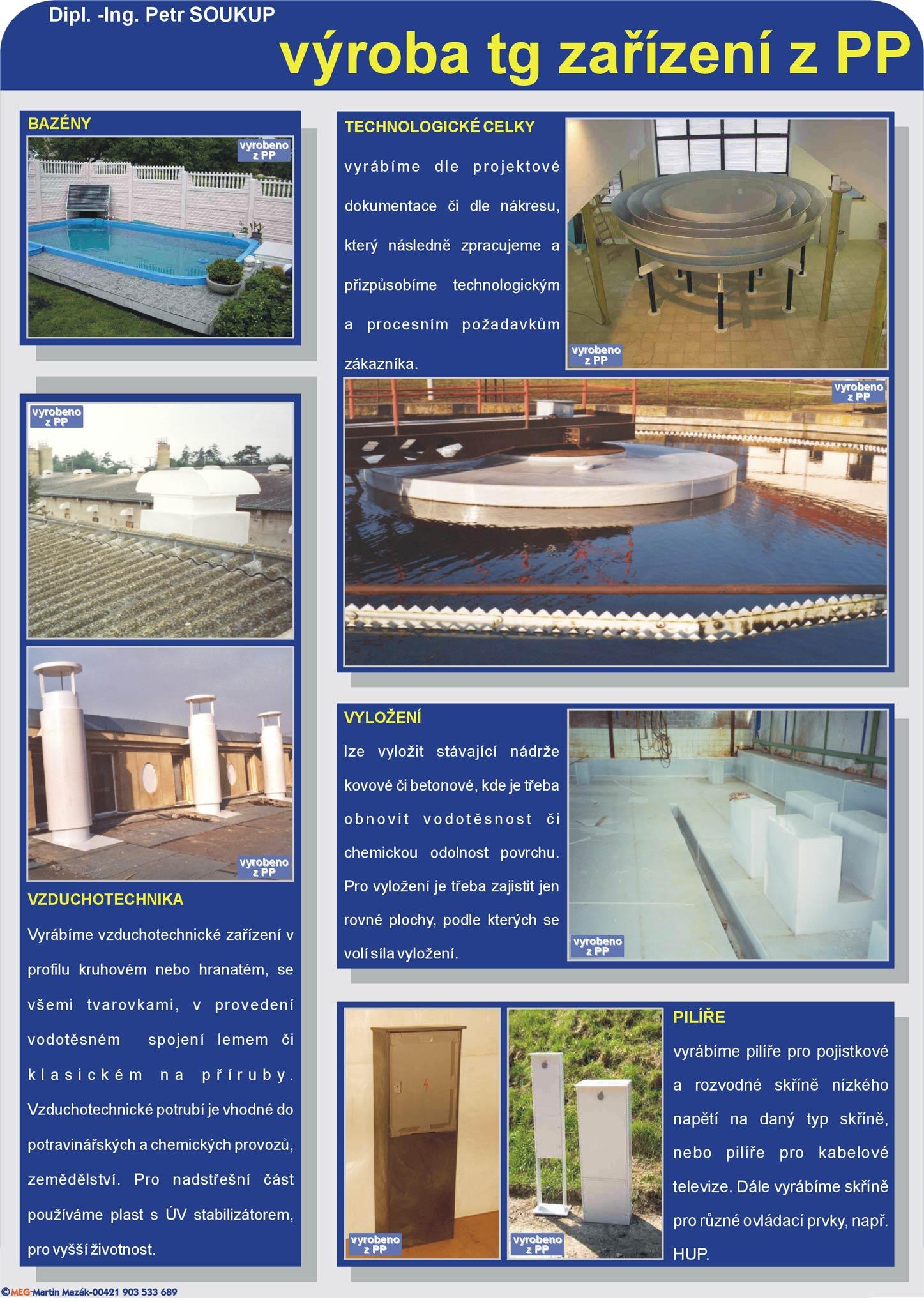 Výroba bazénů na zakázku z polypropylenu Jihomoravský kraj