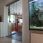 Luxusní celoskleněné dveře do interiéru