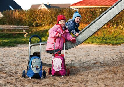 Tašky na kolečkách pro děti.Německo.