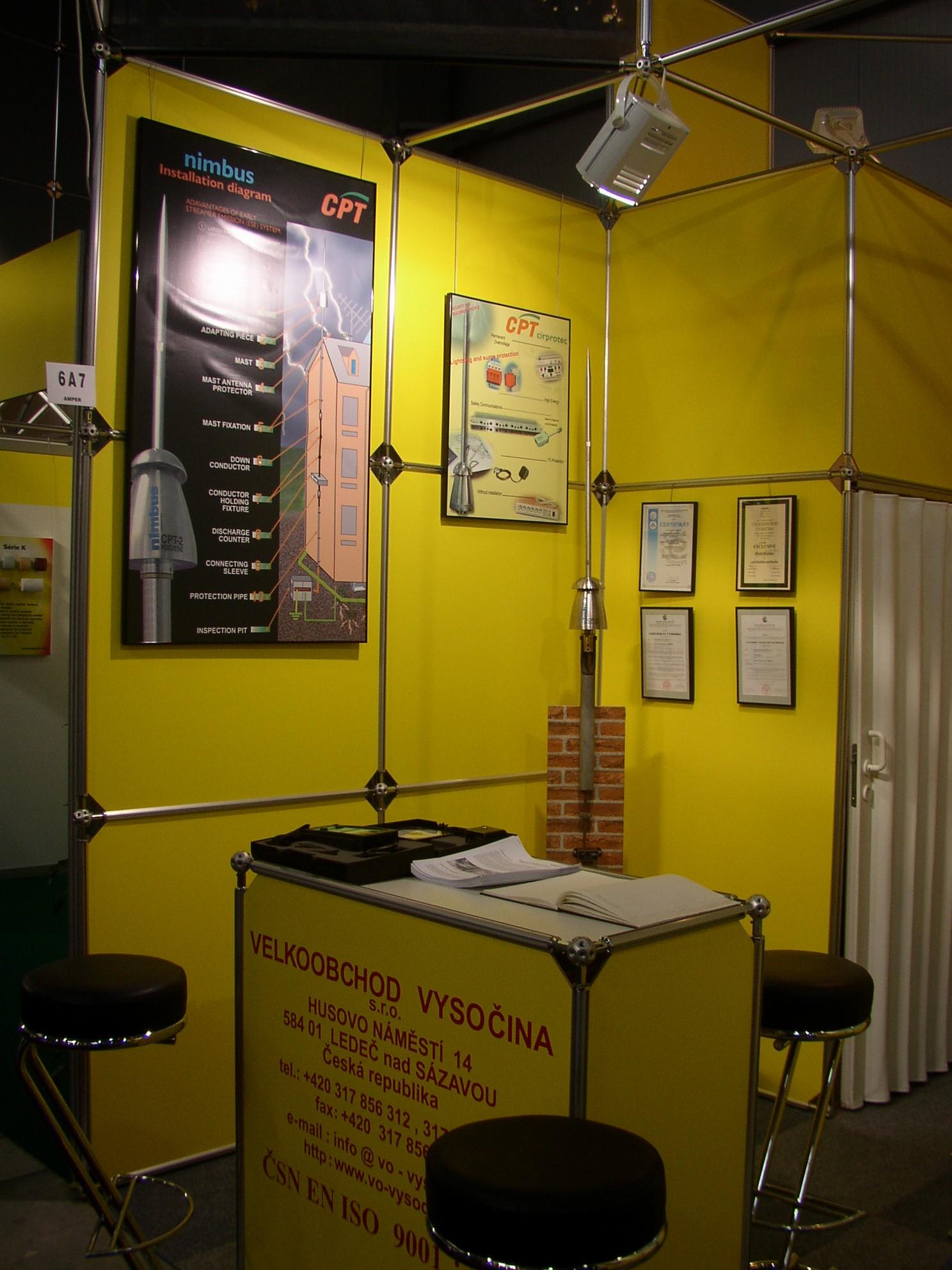 Active lightning conductors - Velkoobchod Vysocina (Wholesale Highlands), the Czech Republic