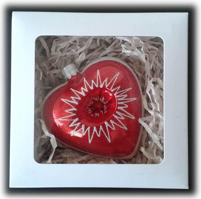 Skleněná Valentýnská srdíčka