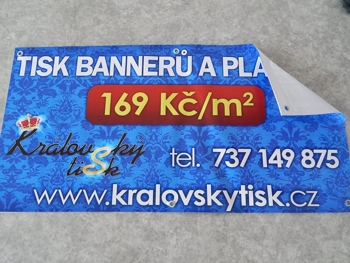 Výroba venkovních bannerů, reklamních plachet, velkoformátový tisk, PVC fólie Opava, Ostrava