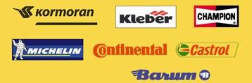 pneumatiky značek MICHELIN, KLEBER, Barum, Continental