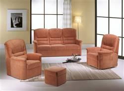Výroba nábytku - masivní čalouněné sedací soupravy v kombinaci s masivním bukovým dřevem Vysočina