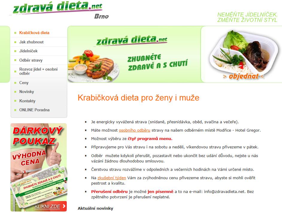 Krabičková dieta Brno, Brno venkov, Modřice