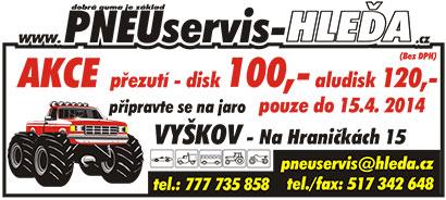 Likvidace, úschova, prodej, servis pneumatik Vyškov