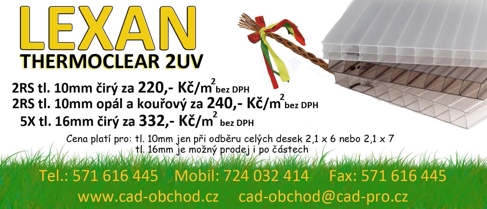 Lexan polykarbonátové, PVC desky, fólie, pásy Valašské Meziříčí