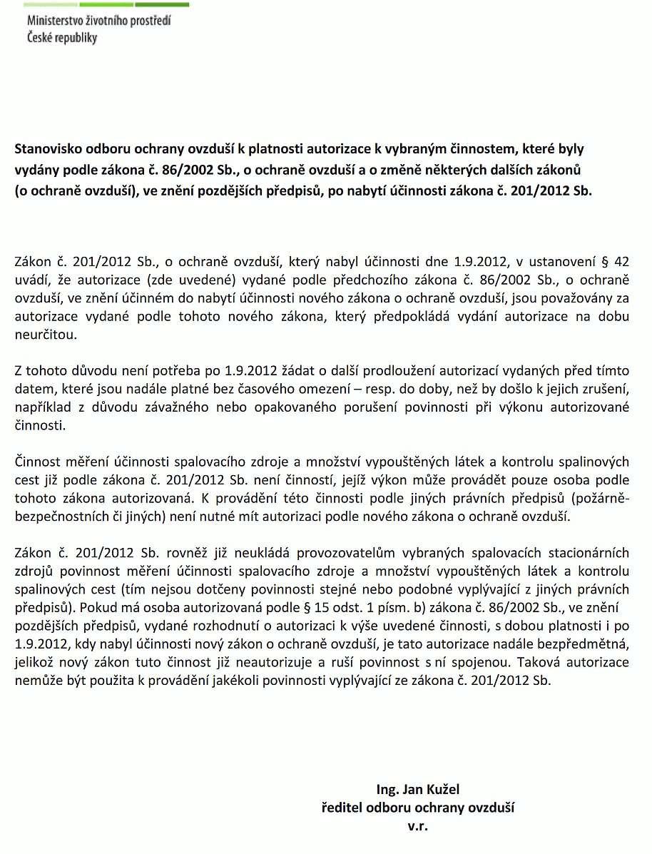 Akreditovaná laboratoř měření emisí Brno