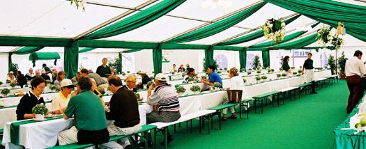 Pronájem a stavba cateringových párty stanů Praha